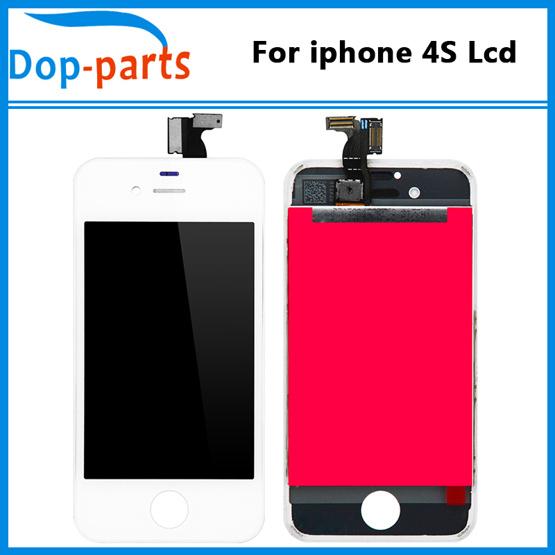4x USA NEW Apple iPhone 4S White LCD LOT OF 4 Digitizer Screen Assembly