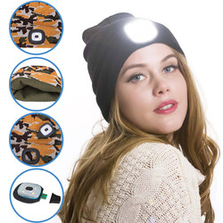 NEW LED Lighted Beanie Cap Hip Hop Men Women Knit Hat Hunting Camping Running Hat Christmas Gifts For Men And Women Dropship