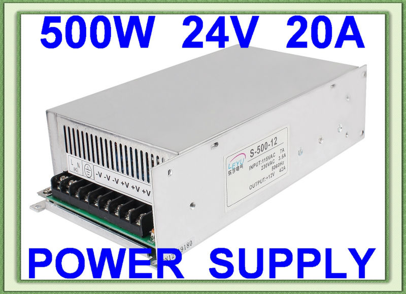 24v ac dc high power 500w single output switching power supply approved CE RoHS