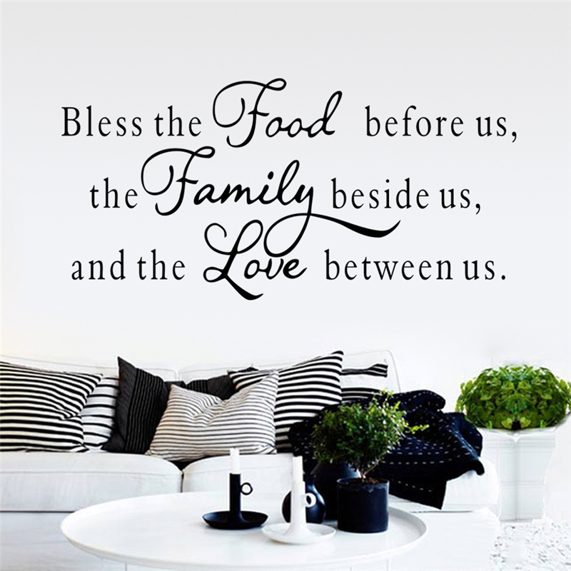 The Family Beside Us And The Love Between Us Inspirational Quotes Wall Sticker For Living Room Diy Home Decor Decal Vinyl Art ...