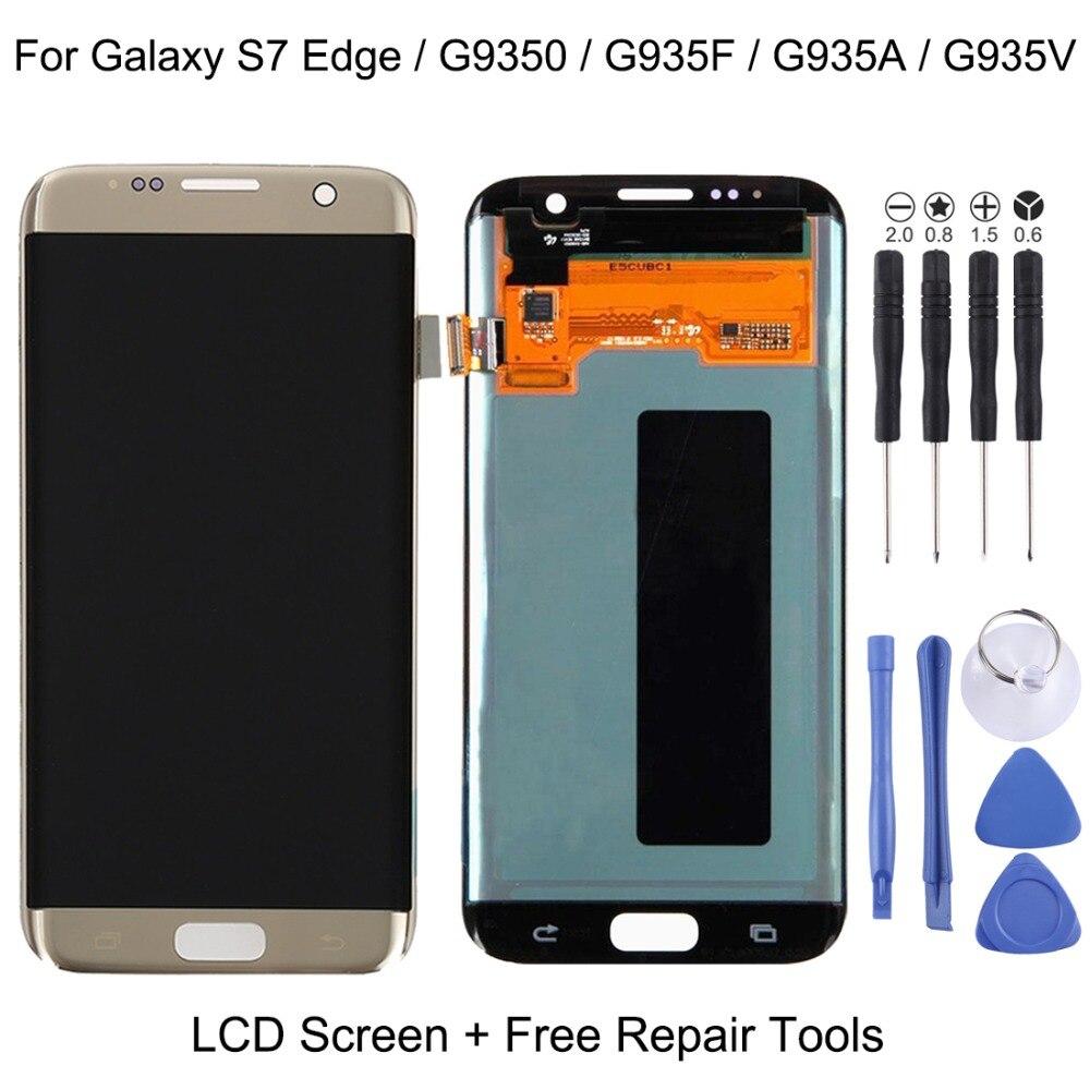 Nouveau pour LCD D'origine Display + Écran Tactile pour Galaxy S7 Bord/G9350/G935F/G935A/G935V réparation, remplacement, accessoires