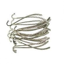 40 sztuk piękne metalowe zakładki wisiorki koraliki do biżuterii ustalenia 87x13mm