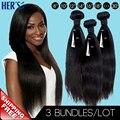 Brazilian Virgin Hair Straight,7A Unprocessed Human Hair Weave 3 Bundles,100% Human Hair Weaving,Brazilian Straight Hair Weave