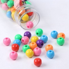 10mm Big Hole Cheap Acrylic Colorful Round Slime Beads for Pacifier Chain Necklace Bracelet Jewelry Making For Needlework