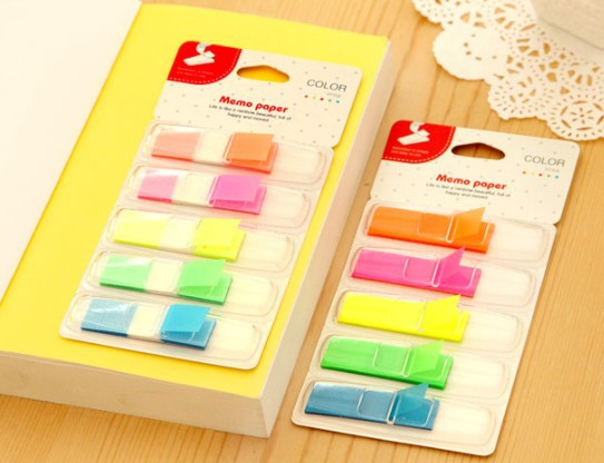 Hot selling retail great deal,new arrival fashion cute fun creative retro Cute Fluorescence Classification Notepad.Sticky Note M