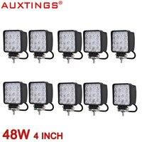 Auxtings Waterproof High Power 6500K Aluminum Housing Wide Beam Spot Beam 48W LED Work Light 4