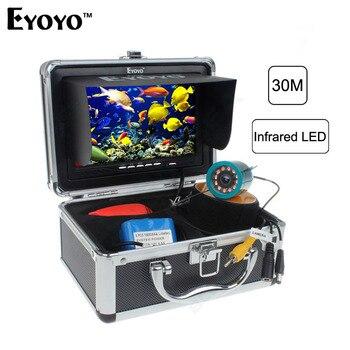 Eyoyo Original 30m Professional Fish Finder Underwater Fishing Video Camera 7 Color Monitor 1000TVL HD CAM 12pc Infrared light EYOYO