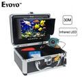 Eyoyo Original 30 m profesional buscador de peces pesca submarina cámara de vídeo 7 Monitor de Color de 1000TVL HD CAM 12 Unid luz infrarroja