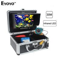 Eyoyo Original 30m Professional Fish Finder Underwater Fishing Video Camera 7 Color Monitor 1000TVL HD CAM 12pc Infrared light