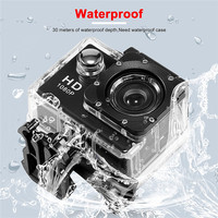Camera Sport DV Video Camera 2 inch Full HD 1080 P 12MP 140 graden groothoek 180 graden Roterende Camera Camcorder Waterdicht