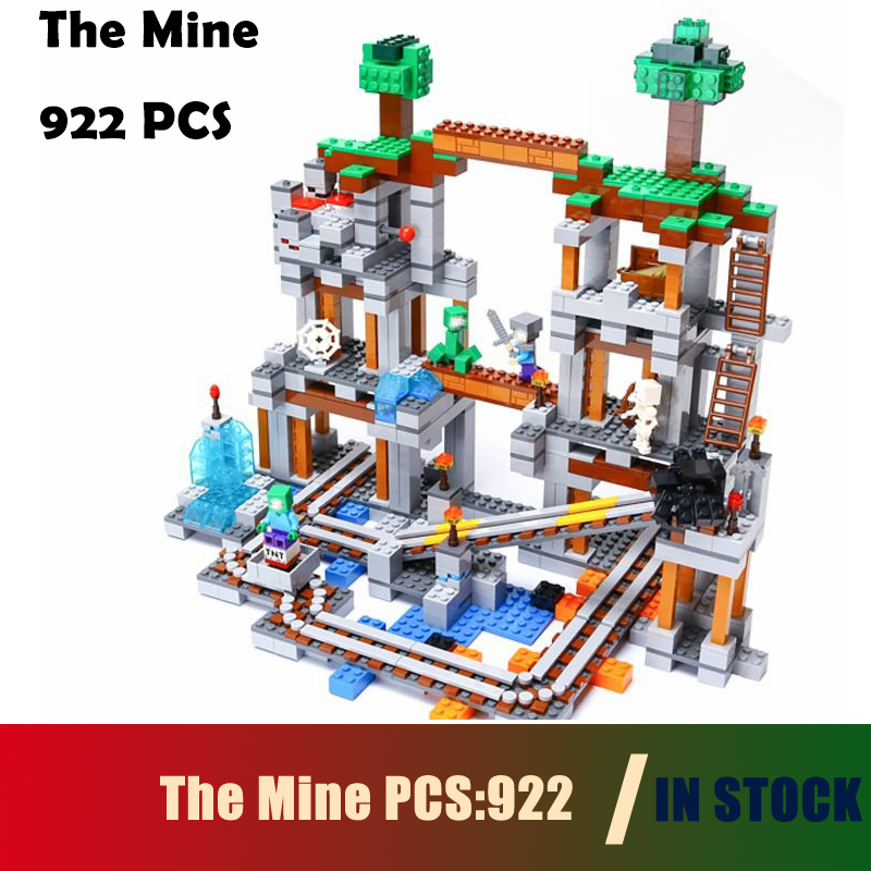 Compatible With lego Model Building block 21118 enter the darkness of The Mine My world whit track Pixel Bricks Kids Toy babylon rising the edge of darkness