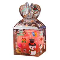 10pcs Christmas Transparent Plastic Gift Box Clear Material Xms Apple Packing Boxes Diy Candy Case Party