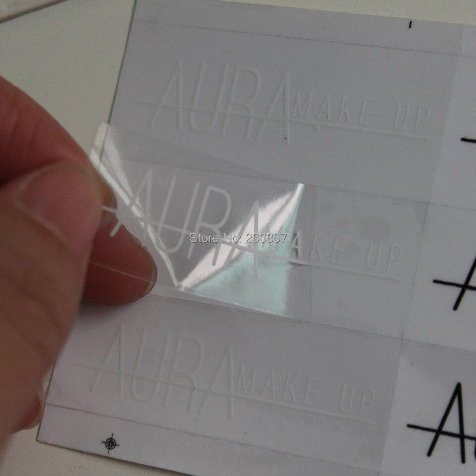 Индивидуальный прозрачный ПВХ наклейки Водонепроницаемая Наклейка круглая или прямоугольная наклейка 1000шт/Лот