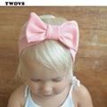 Twdvs bebé nudo algodón elasticidad venda del bebé niñas gran nudo de pelo banda de pelo de los cabritos accesorios w193
