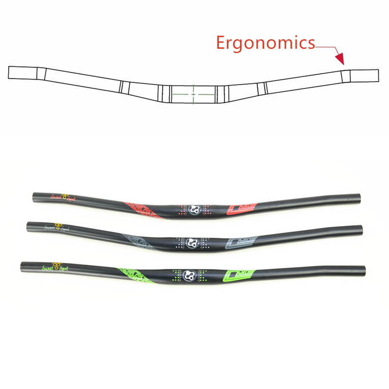FOURIERS HB-MB016-CC Aluminum alloy 7050-T73 ergonomic bend mountain Cycling Bicycle Parts Bicycle <font><b>Handlebar</b></font> 31.8mmx680/<font><b>760mm</b></font> image