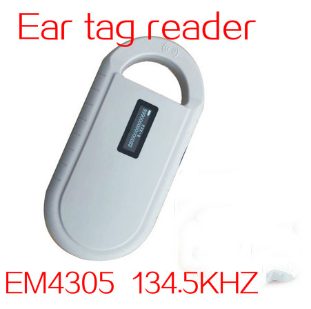 ISO11785/84 FDX-B EM4305 134.2KHZ electronic tag reader  RFID low frequency ear tag scanner