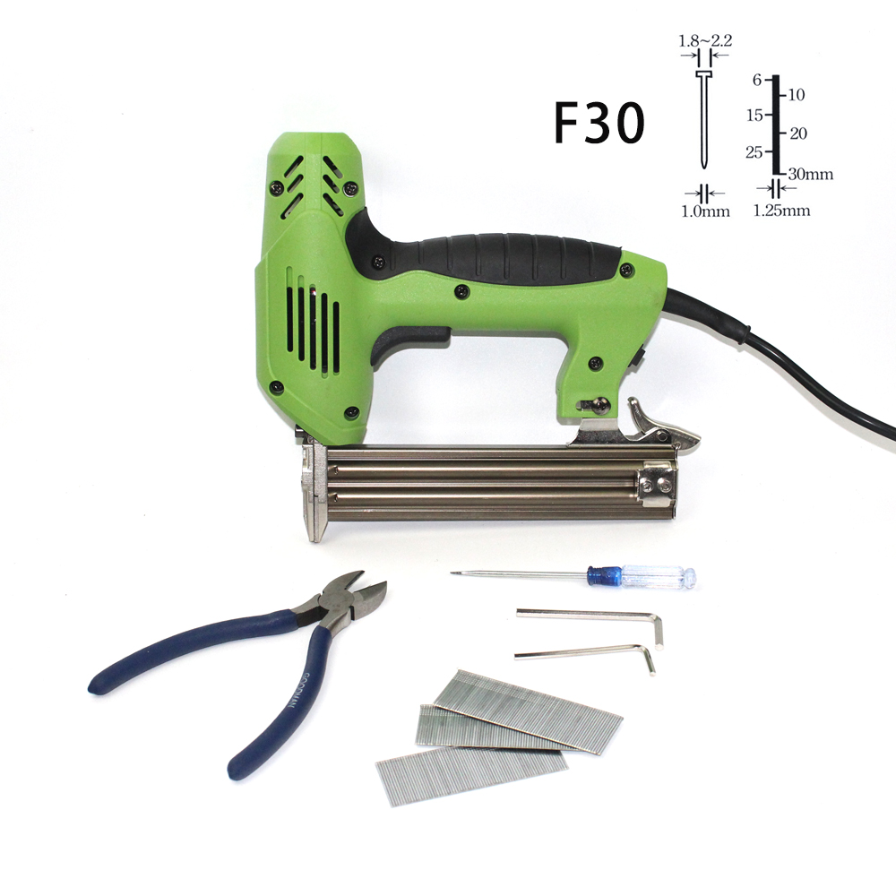 220V Electric Power Tools F30 Framing Tacker Electric Nails Staple Gun Electric Stapler Gun With 300pcs Nails