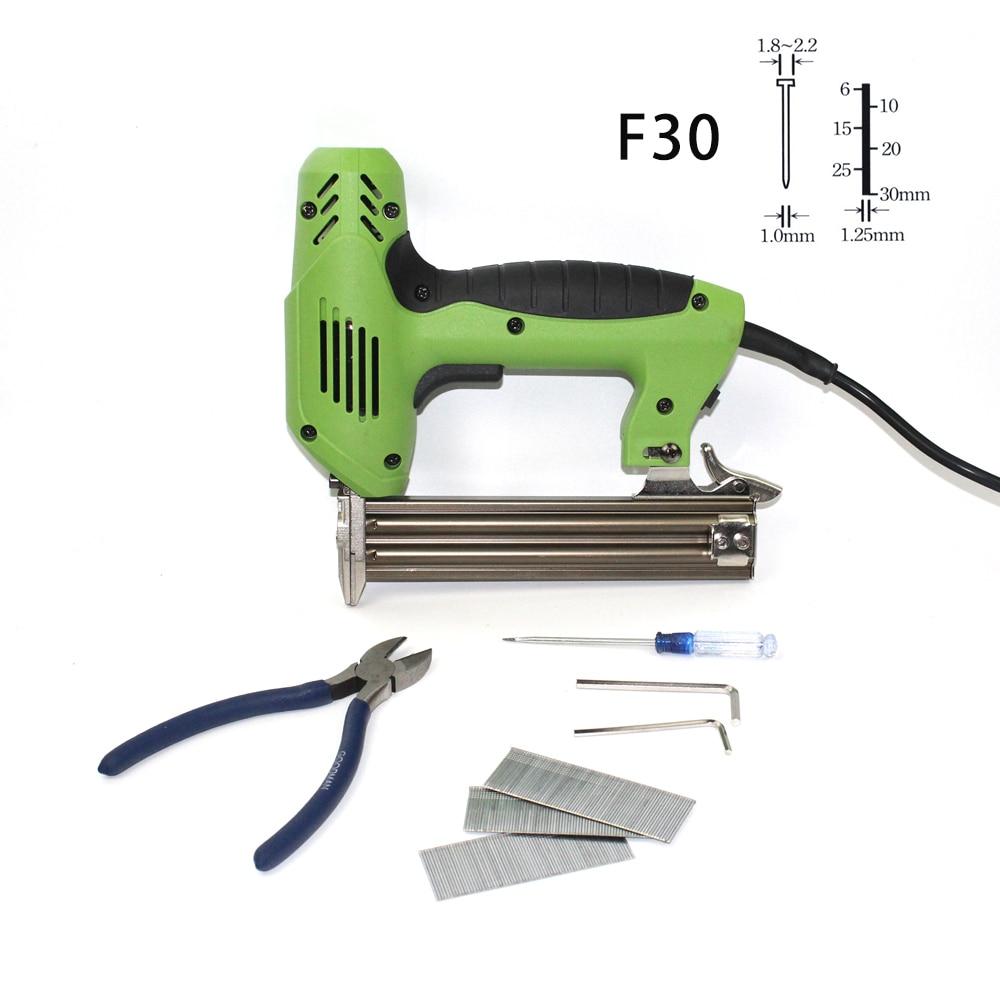 Electric Nails Staple Gun Framing Tacker Stapler 2 In 1 Power Tools 600pcs Nails