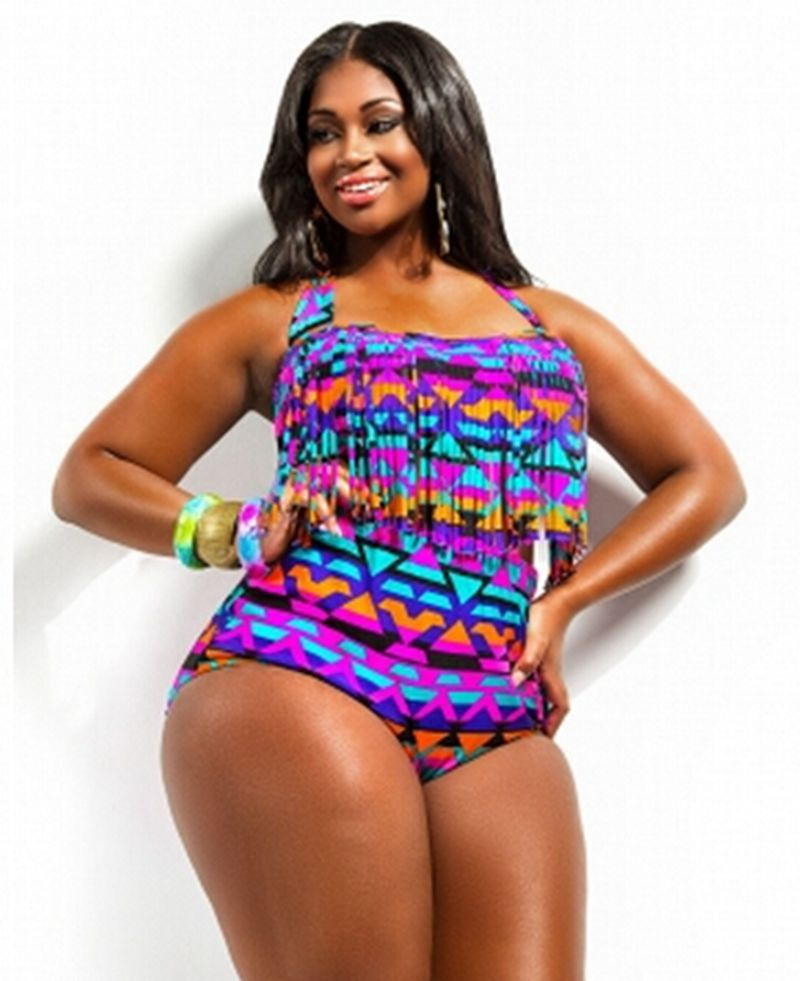 Find flattering plus size high waist swimsuits that match your retro style. Many of our high waist bikini bottoms include lining for tummy control so you can have confidence for your fun day in the sun at the pool or beach. Mix and match high waisted bathing suit .