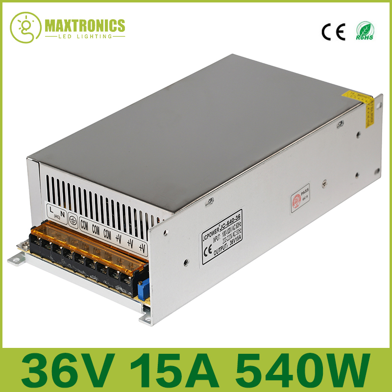 Best price 36V 15A 540W Universal Regulated Switching Power Supply for CCTV Led Radio Free shipping плёнка для наклеек brother tze 661 чёрный шрифт на жёлтой основе 36мм 8м