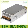 Mejor Precio 36 V 15A 540 W fuente de alimentación de conmutación regulada Universal para Radio Led CCTV envío gratis