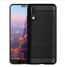 for huawei p20 mobile cell phone Anti-knock Solid Color Dirt-resistant Brushed Finish Shockproof case