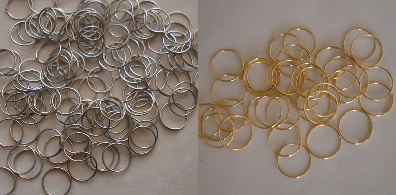 10000pcs 12mm Gold Chrome Stainless Steel Round Rings Lamp Parts Connectors chandelier curtain accessories connectors