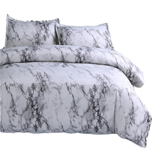 New Fashion Marble Stripes Pattern Printed 3D Duvet Cover Set Polyester Sanding Bedlinens Pillowcase Bedding Sets