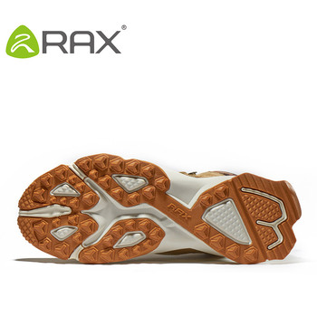 RAX Men Hiking Shoes Mid-top Waterproof Outdoor Sneaker Men Leather Trekking Boots Trail Camping Climbing Hunting Sneakers Women 6