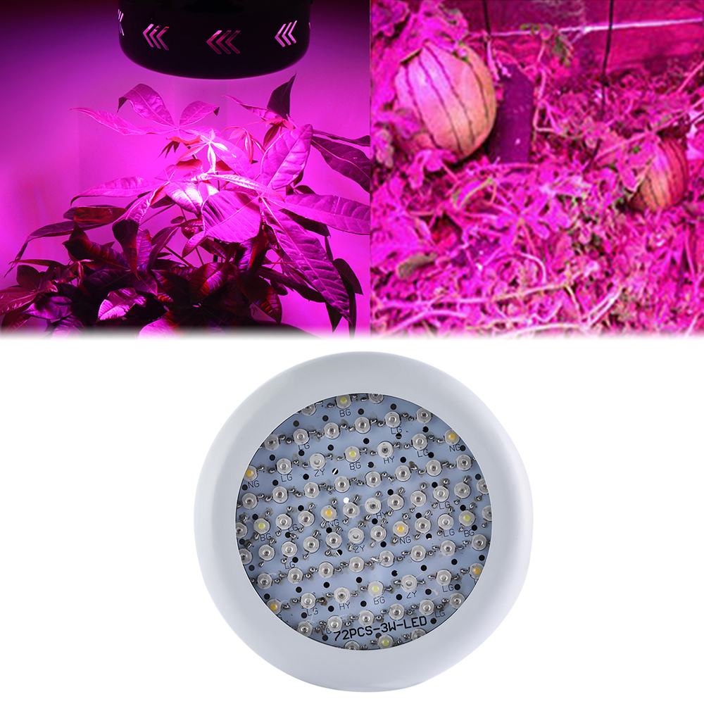 Full Spectrum 55W 72LED Grow Light 85~265V Hydroponics Plant Lamp Ideal for All Phases of Plant Growth European regulations best full spectrum 300w led cultivate light for hydroponics greenhouse grow tent led lamp suitable for all plant growth 85v 265v