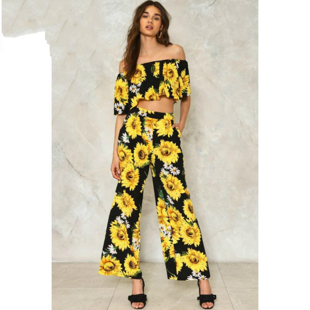 Online Shop Customized Autumn 2017 New Casual Sunflower Floral ...