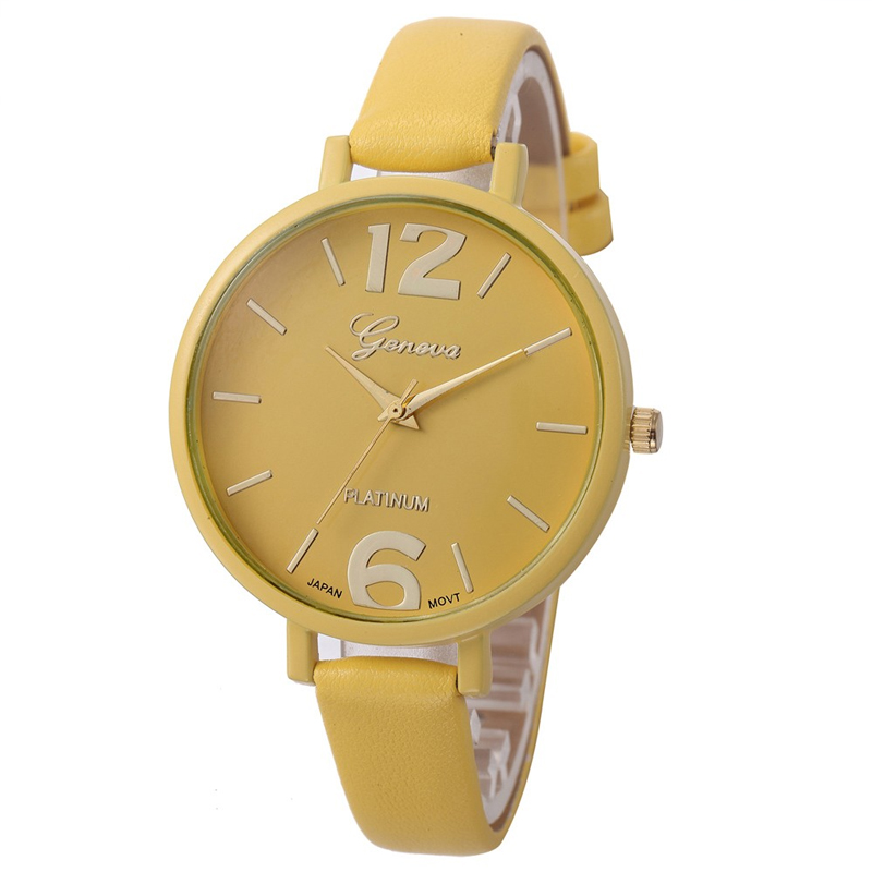 High Quality Womens Watch Women Casual Checkers Faux Leather Quartz Analog Wrist Watch Dropshipping Style 11