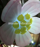 High quality fantastic decoration color changing hanging 1.5M led lighting inflatable flower for wedding decoration