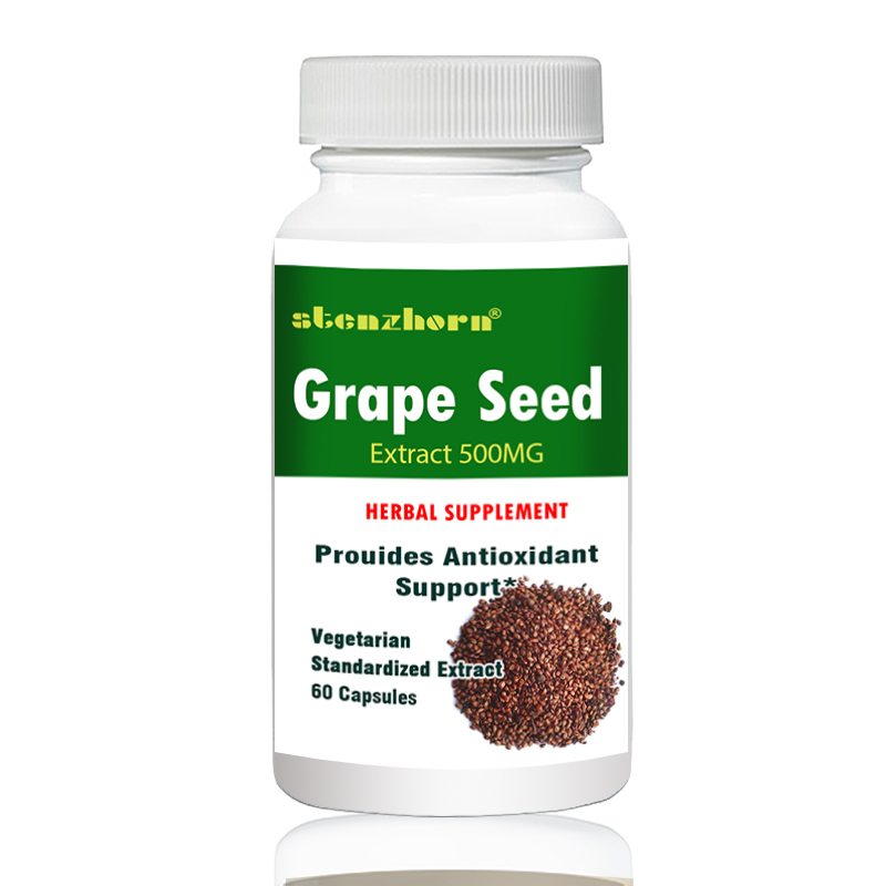 Купить с кэшбэком grape seed  500mg 60pcs  support collagen formation, provide antioxidant support
