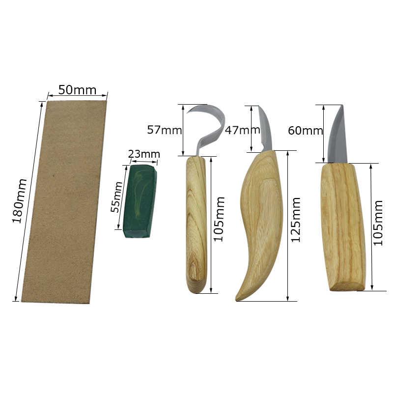 עץ גילוף סכין גילוף אזמל נירוסטה חדה עץ חותך לנקר אזמלים נגרות DIY גילוף כלים סט