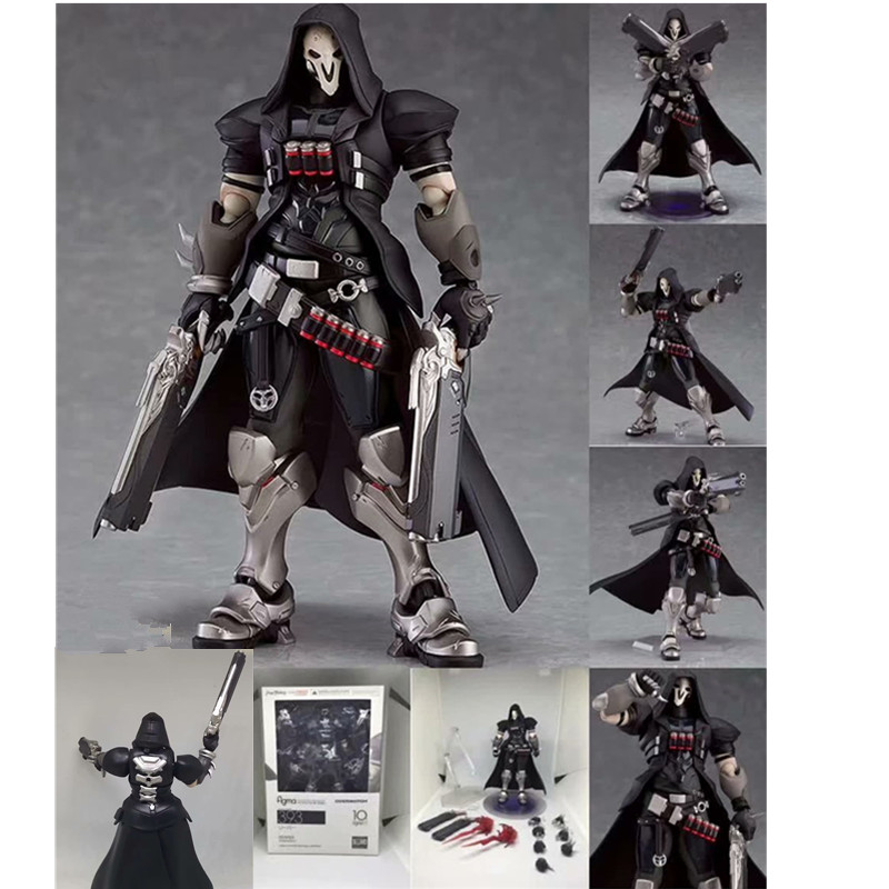 6.8inch Ow Figma 393 Overwatches Reaper Series Action Figure Model Toy Doll Gift