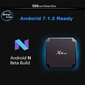 Image 5 - เรือจากฝรั่งเศสX96 Mini 10ชิ้น/ล็อตX96mini 2GB 16GB Android TVกล่อง7.1ชุดกล่องด้านบนAndroid 9.0 Amlogic S905W Quad Core WiFi
