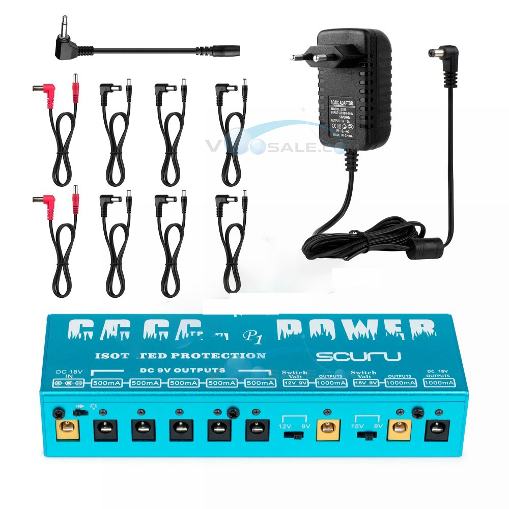 Caline P1 Isolated Power Supply 18V 2A 36W Guitar Effects Pedal 8 lsolated Outlets Power Supply