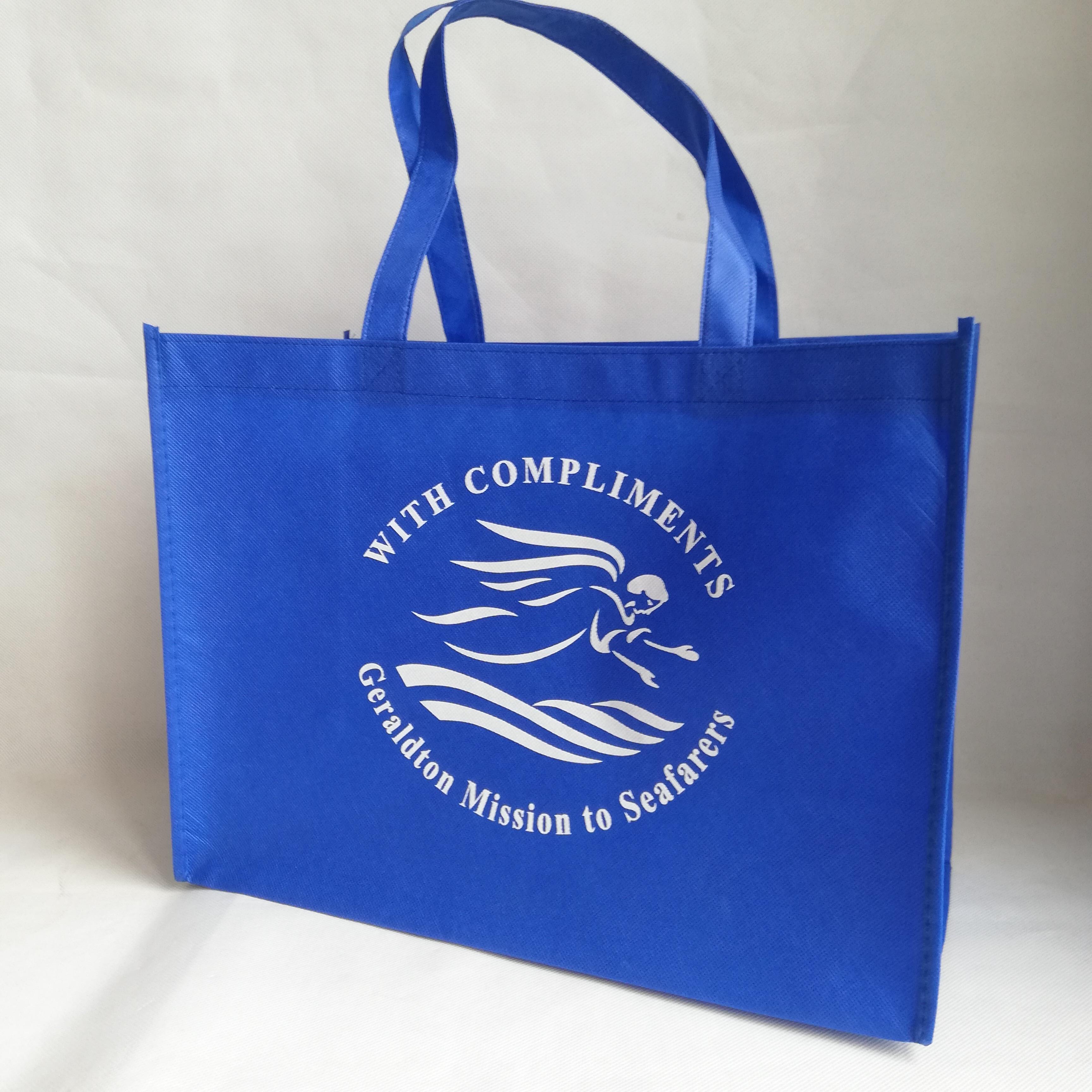 Bagaj ve Çantalar'ten Alışveriş Poşetleri'de 500 adet/grup Yeniden Kullanılabilir Olmayan dokuma Logo Çanta Kek Mağaza ve Kumaş Ayakkabı Baskılı Marka Promosyon Pazarı çanta Toptan'da  Grup 3