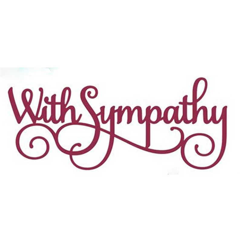 With Sympathy Words Metal Cutting Dies Stencil for DIY Scrapbooking Paper Cards Making Decorative Crafts Supplies New 2018 Dies