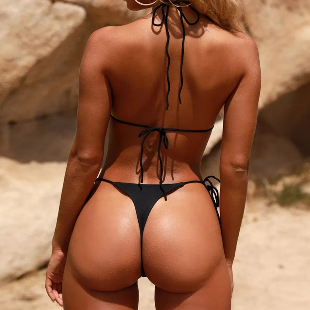 Women Sexy Bikinis Bandeau Bandage Bikini Set Push-Up Brazilian Swimwear Beachwear Swimsuit 2019 Mujer Solid Maillot De Bain#15