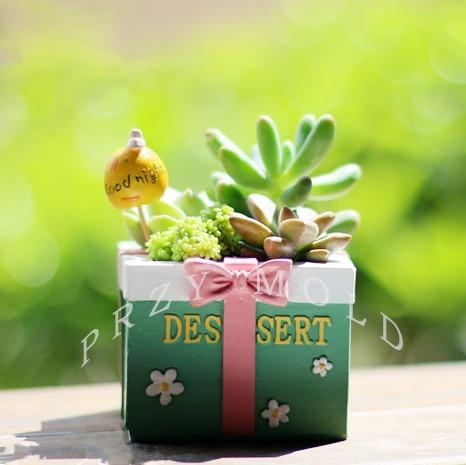 Silikagelis silikono liejimo plantažas mielas dovanų dėžutė - Virtuvė, valgomasis ir baras