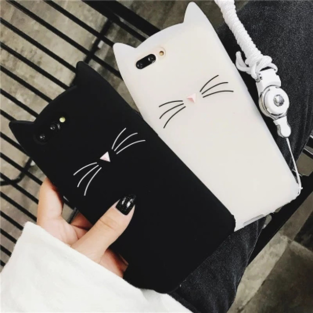 3d Fashion Cartoon Mini Cat Soft Silicone Case For Iphone 4g 5g 6g 7g 8g 6 7 8 Plus X Nokia 1 2 6 Motorola Moto C E4 E5 Plus G5 Exquisite Traditional Embroidery Art