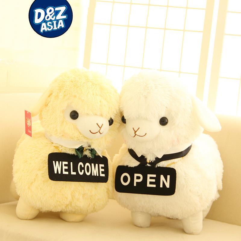 Добре дошли престилка овце Алпака кукла Прислужница жени Слуга овце слуга играч плюшена играчка кукла