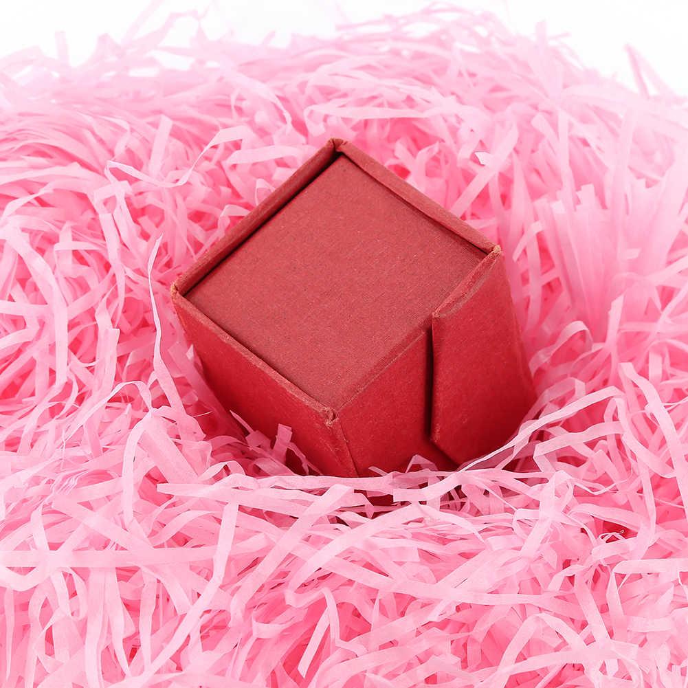 สีสันหั่นกระดาษ Raffia กล่องใส่ของขวัญงานแต่งงานตกแต่ง Crinkle ตัดกระดาษหั่นกระดาษบรรจุภัณฑ์ของขวัญ Filler Drop Ship