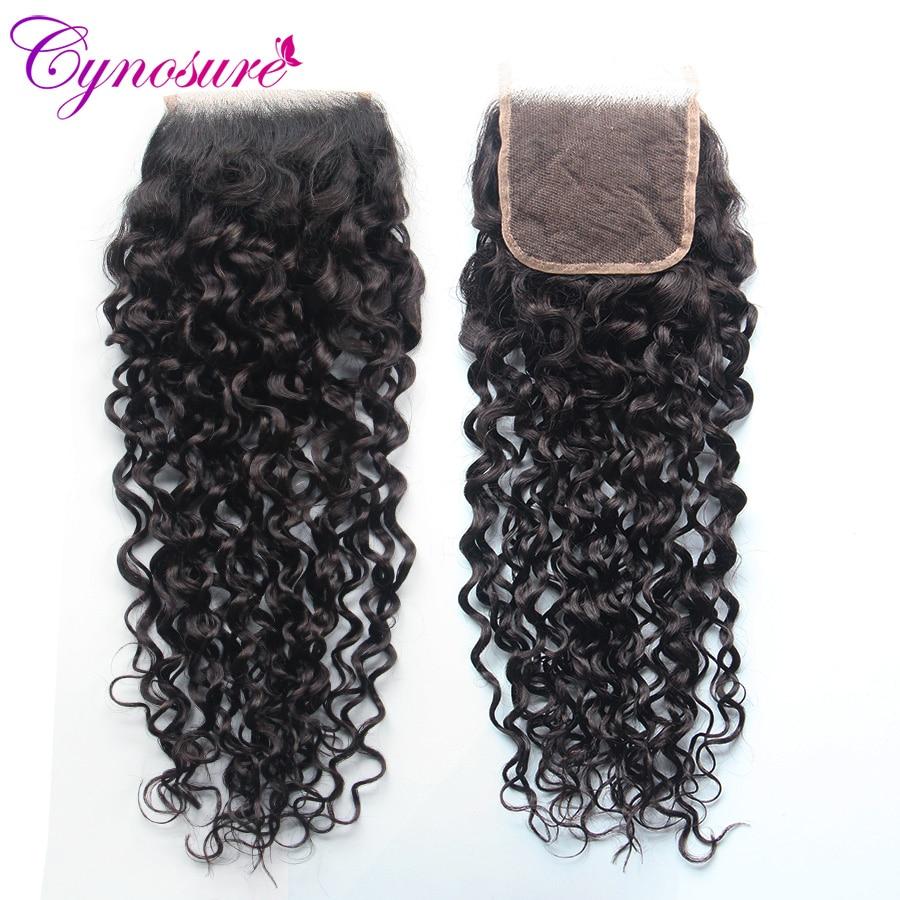 HTB1aQz UMHqK1RjSZFgq6y7JXXaQ Cynosure Human Hair Water Wave Bundles with Closure Double Weft Brazilian Hair Weave 3 Bundles With Closure Remy