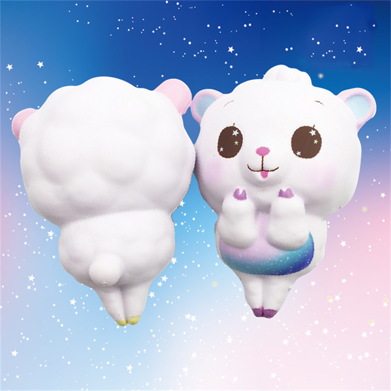 Taburasaa For Squishy Dancing Sheep 15cm Slow Rising Rainbow and for Galaxy Colour With Packaging Squeeze Toy Phone Straps