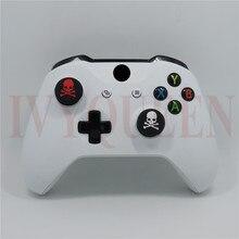 IVYUEEN 4 unids para Dualshock 4 PS4 Pro Slim controlador cráneos de goma de silicona de analógico pulgar Stick puños tapas para PS3 para Xbox 360