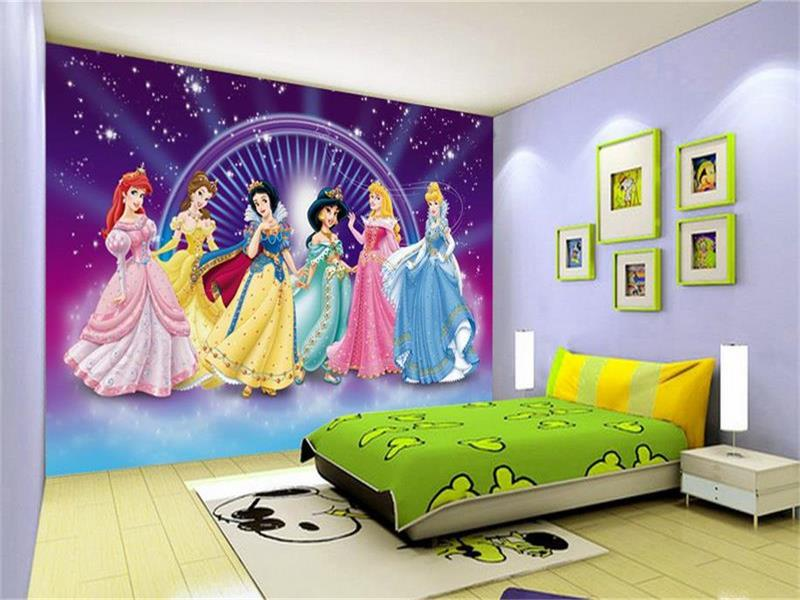 Online buy wholesale classic disney cartoons from china for Child mural wallpaper