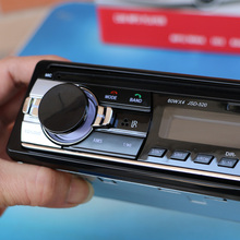 12 v Bluetooth De Voiture Radio Lecteur Stéréo FM MP3 Audio 5V-Charger USB SD AUX Auto Électronique Au Tableau de Bord Autoradio 1 DIN NO DVD JSD-520